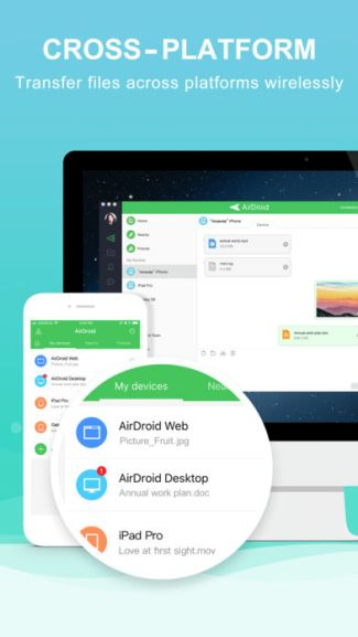 AirDroid na iOS (screen)