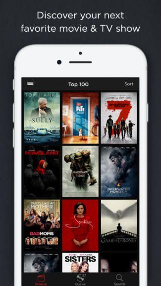 Screen aplikacji DVD Netflix