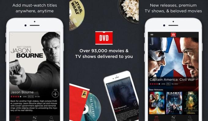 DVD Netflix - aplikacja mobilna (iOS, Android)
