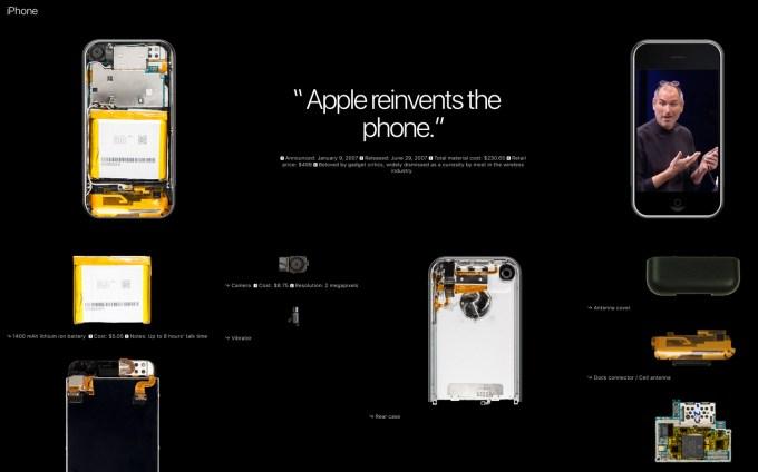 iPhone 1. generacji - wnętrze urządzenia