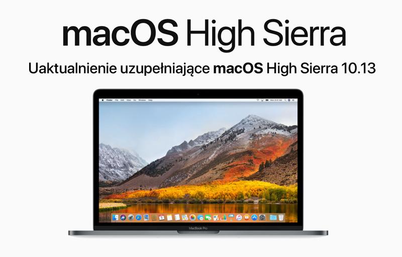 Uaktualnienie uzupełniające macOS High Sierra 10.13