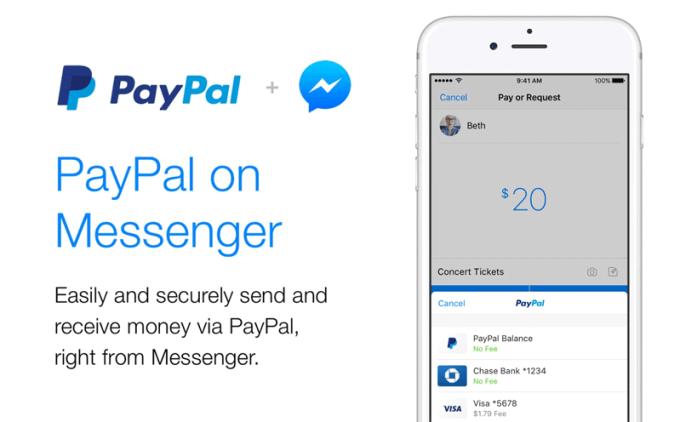 Natychmiastowe przelewy PayPal w komunikatorze Messenger od Facebooka