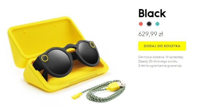 Okulary Spectacles - cena Polska