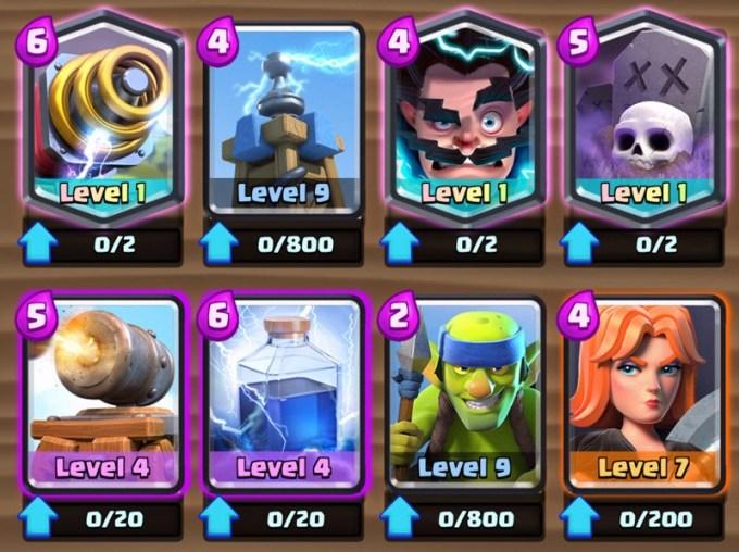 Zbalansowane karty w Clash Royale