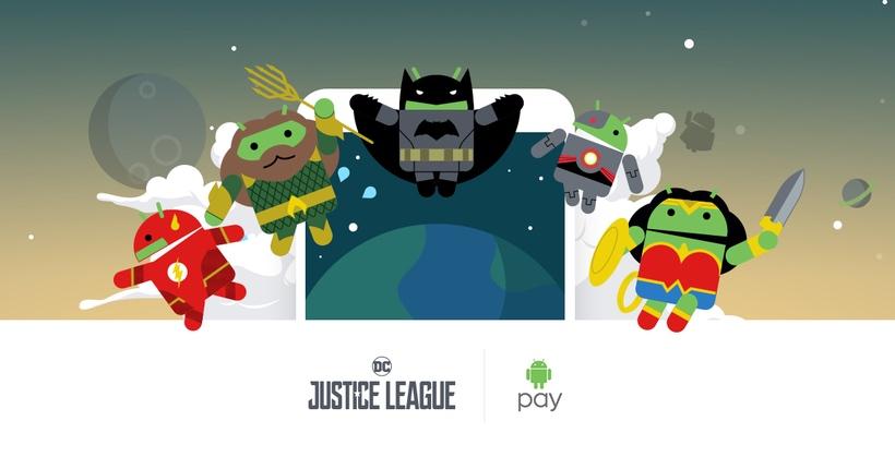 Justice League (Liga Sprawiedliwości) w aplikacji Android Pay