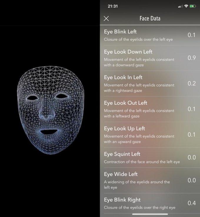 Face Mesh w aplikacji mobilnej AR MeasureKit