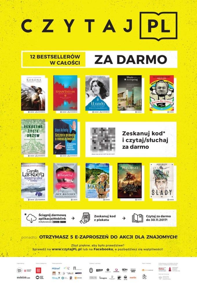 Plakat akcji Czytaj PL 2017