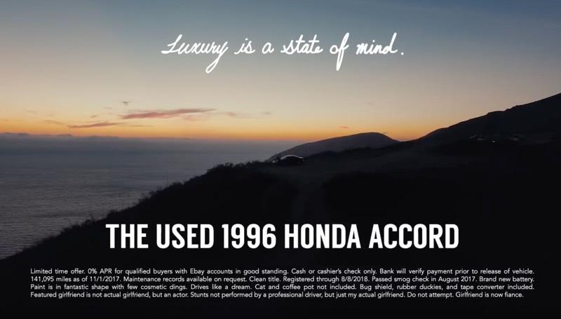 Amatorska reklama używanej Hondy Accord EX z 1996 roku
