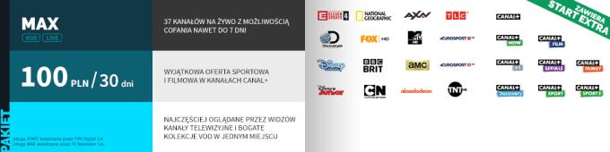Pakiet MAX z Canal+ w ofercie Player.pl