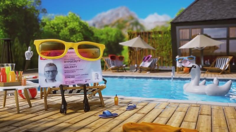 """Screen ze spotu reklamowego mDokumentów: """"Wyślij dowód na wakacje"""""""