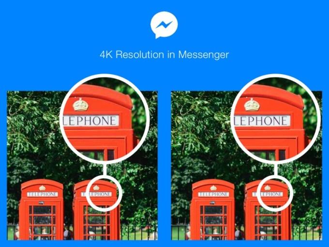 Rozdzielczość 4K zdjęć w aplikacji Messenger