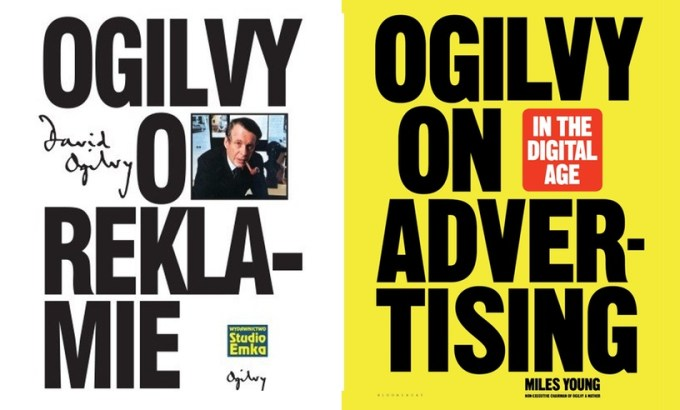 "Okładki książek: ""Ogilvy o reklamie"" oraz ""Ogilvy on Advertising in the Digital Age"""