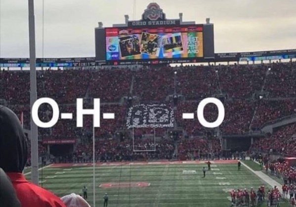 Ohio trolluje autokorektę systemu iOS, podczas meczu z MSU