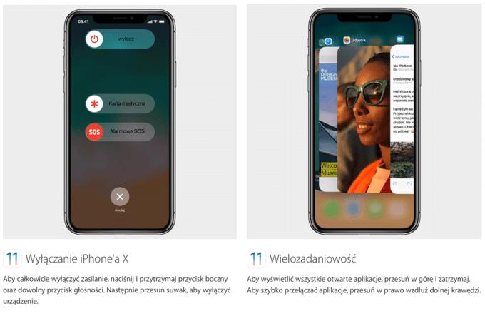 Porady iPhone X: wyłaczanie telefonu i wielozadaniowość