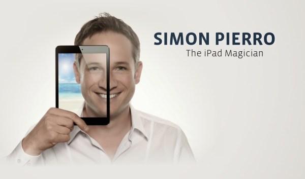 iSimon używa do swoich iluzji iPada, zamiast kapelusza