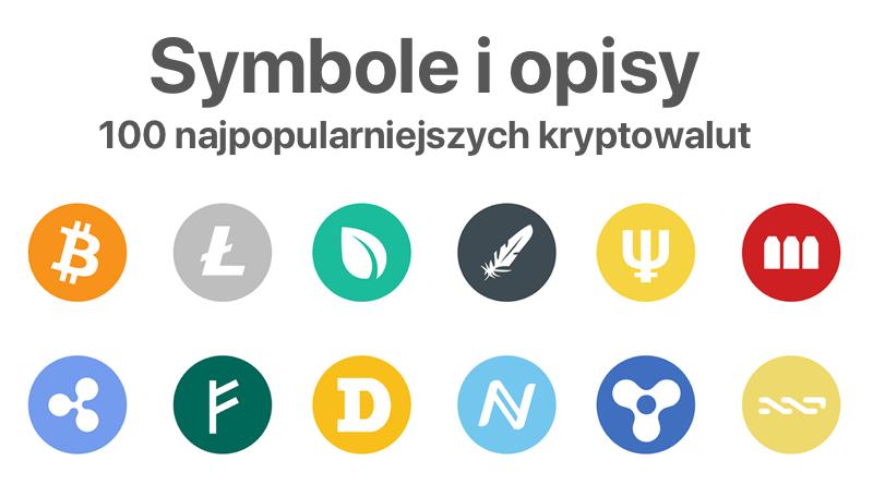 Lista symboli i opisów 100 kryptowalut