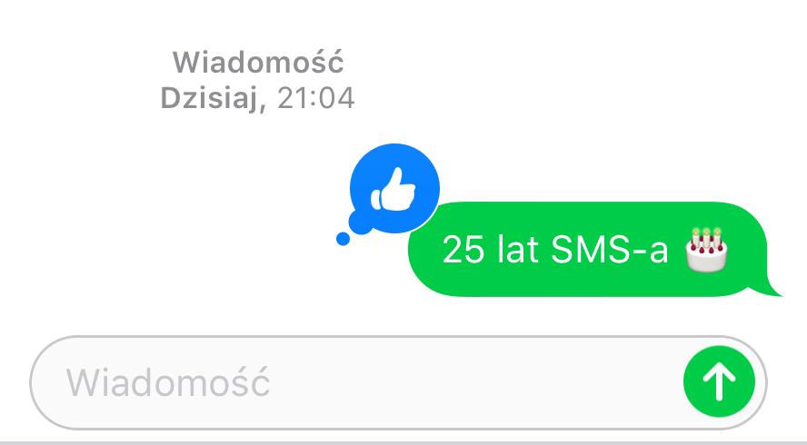 25 lat wiadomości tekstowej SMS