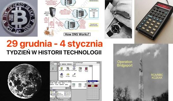 [29 gru – 4 sty] Tydzień w historii technologii