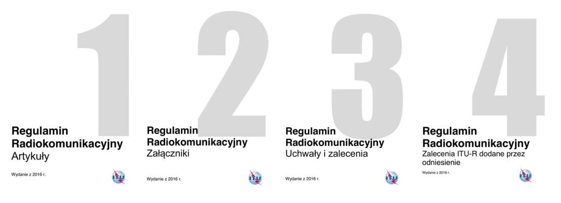 4 tomy regulaminu Radiokomunikacyjnego ITU (edycja 2016) w języku polskim
