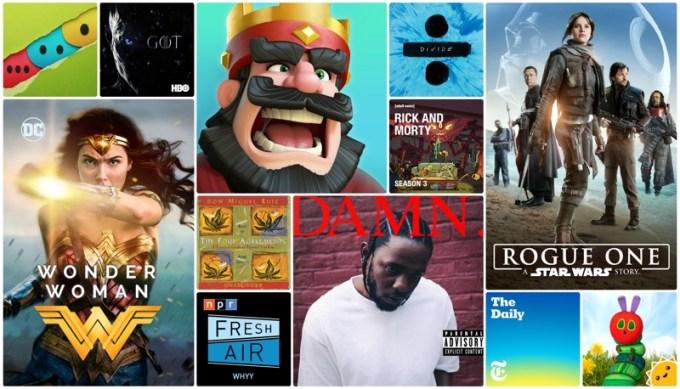 TOP aplikacje i gry, muzyka, filmy wg Apple