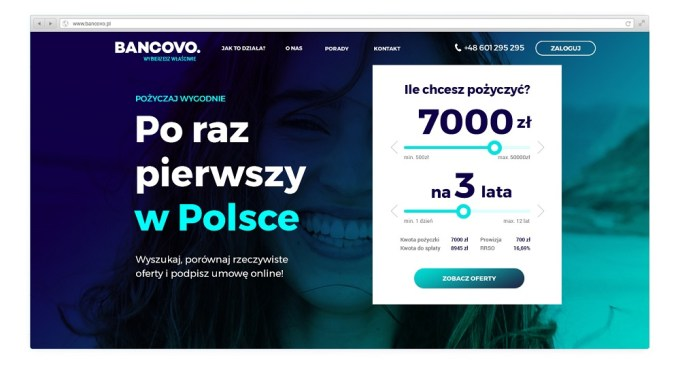Bancovo. - screen strony