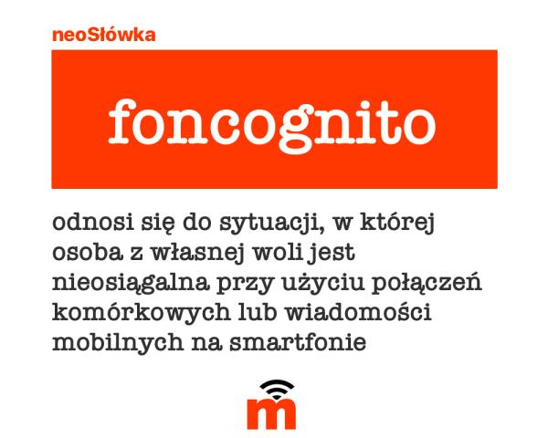 """neoSłówka: """"być foncognito"""""""