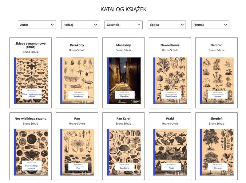 Katalog książek z serwisu lektury.gov.pl