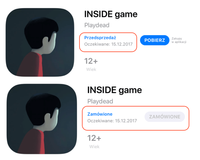 Opcja zamawiania aplikacji w przedsprzedaży w sklepie App Store
