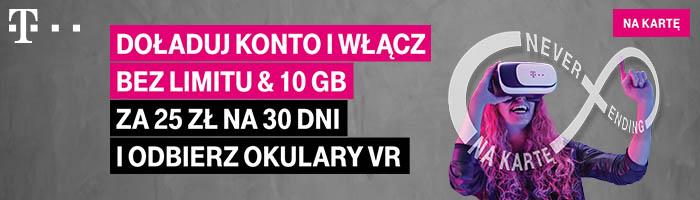 """Promocja doładowań w T-Mobile: """"Nielimitowane rozmowy, SMS-y i 10 GB za 25 zł"""""""