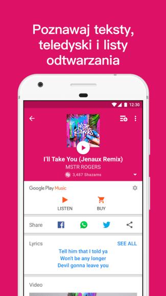 Shazam mobile app