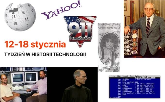 12-18 stycznia - Tydzień w historii technologii