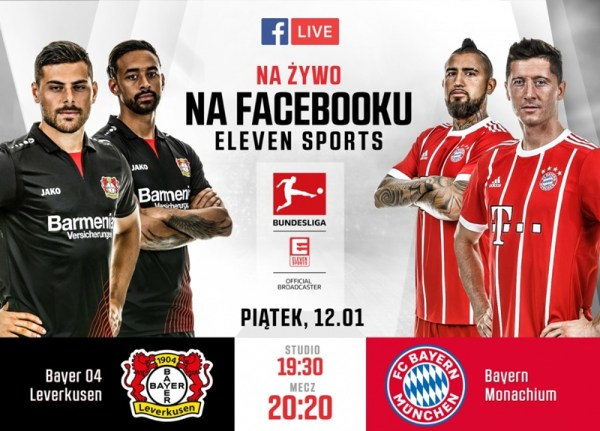 Mecz Bundesligi na Facebook Live od Eleven Sports Polska