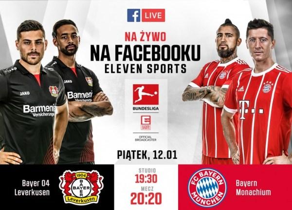 Mecz Bundesligi na Facebook Live od Eleven Sports Polska