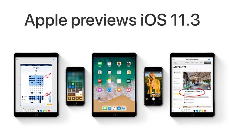 Nowe funkcje systemu iOS 11.3