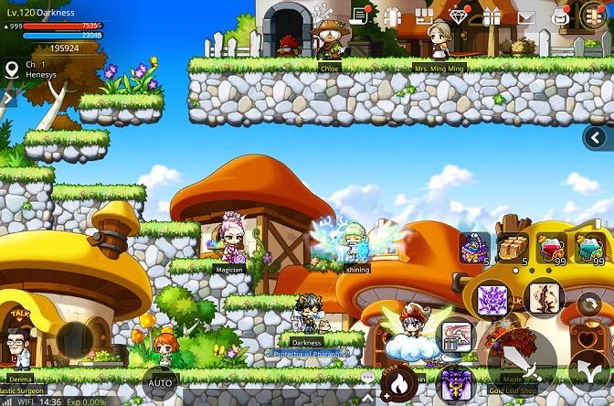 Screen z gry mobilnej MapleStory M