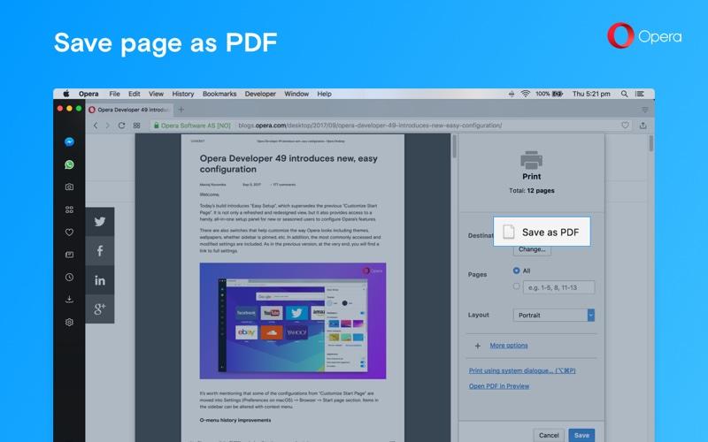Opera 50 - Zapisz jako PDF
