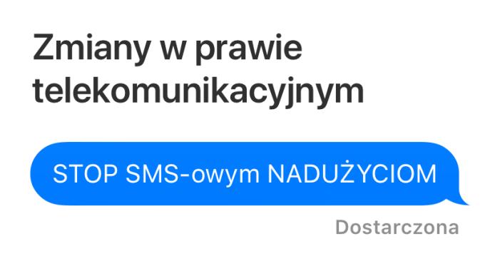 Zmiany w prawie telekomunikacyjnym - STOP SMS-owym nadużyciom