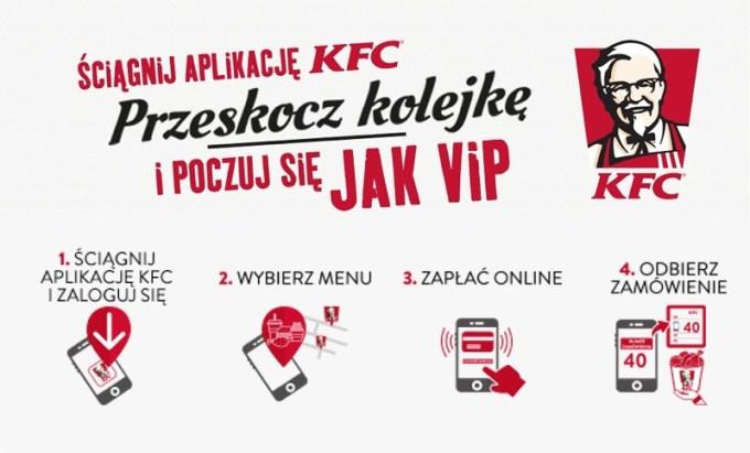 Przeskocz kolejkę z aplikacją mobilną KFC
