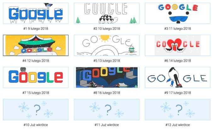 Google Doodle Snow Games 2018