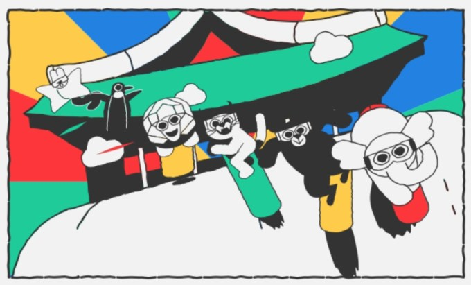 Google Doodle z okazji Zimowych Igrzysk Olimpijskich w Pjongczangu 2018