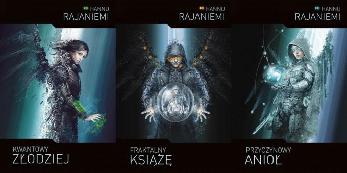 Okładki książek Hannu Rajaniemi