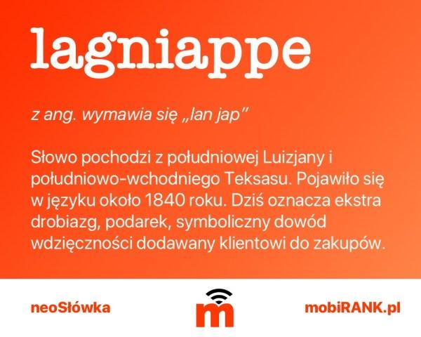 neoSłówka: Co oznacza Lagniappe?