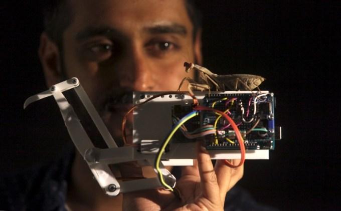 Stereofoniczne widzenie modliszki w służbie robotyki 3D