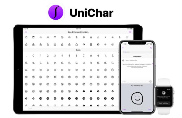 Z aplikacją UniChar łatwo znajdziesz każdy znak Unicode