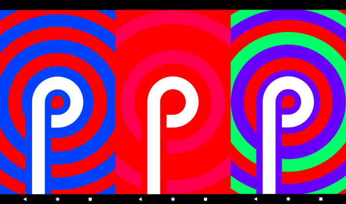 Android P - easter egg logo