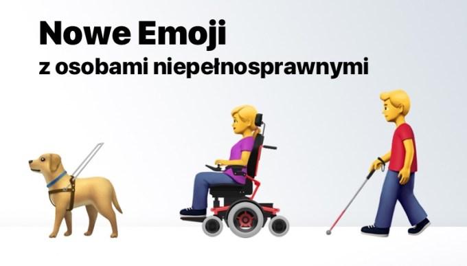 Nowe Emoji z osobami niepełnosprawnymi