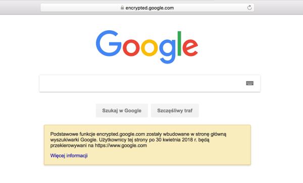 "Google wycofuje stronę ""encrypted.google.com"""