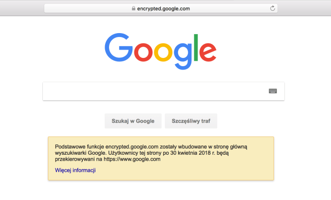 "Zrzut strony ""encrypted.google.com"""