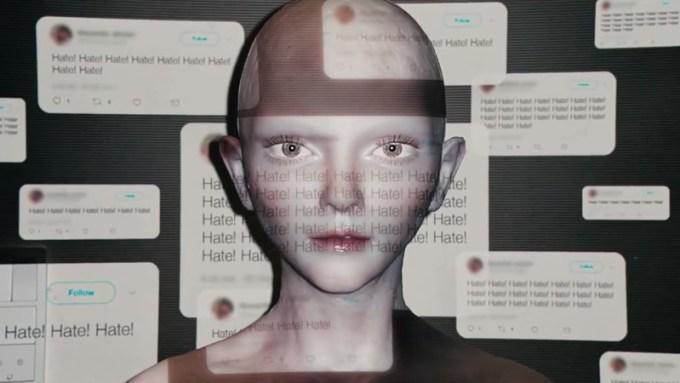 "Kampania ""Hate is so 2018"" (Bianco) - humanoid Mary"