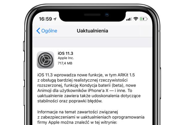 iOS 11.3 jest już dostępny do pobrania dla wszystkich